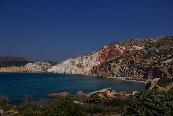 Milos Grecia isola colori Cicladi
